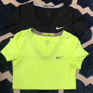 Nike Pro Short Sleeve Tee Bundle Size Small